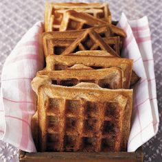The cinnamon sugar bakes into a sweet, crunchy topping when the lid of the waffle iron is closed.