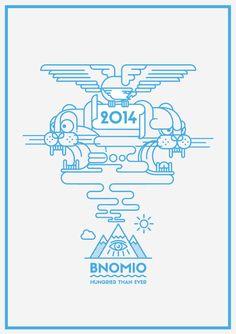 2014 Card by bnomio, via Behance