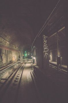 Abandoned tube station, maybe this is where the tunnels come from? It would link it with the train theme in book 2