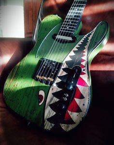 "Custom built by guitars_addiction ""The Flying Tiger Telecaster"" #beautifulguitars"