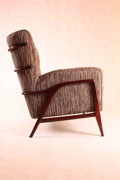Giuseppe Scapinelli; Jacaranda Frame Armchair, 1950s.