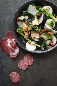 Black radish salad with kale tokoyo turnip almond and parm photo