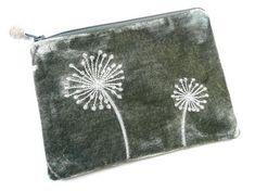 Purse - Alliums Velvet Grey Fair Trade Jewelry, Jewelry Roll, Indigo, Rolls, Velvet, Jewellery, Embroidery, Purses, Grey