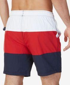 Nautica Men's Tri-Block Swim Trunks - Orange XXL