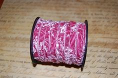 old rose crushed velvet ribbon can you tell i love pink? Old Rose, Velvet Ribbon, Crushed Velvet, Ribbons, Craft Supplies, Shabby Chic, Deck, Roses, Crafting