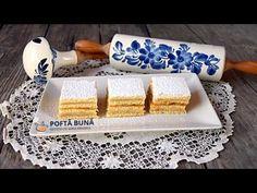 Reteta de prajitura de foi cu miere (sau Albinita), dupa o reteta veche, una dintre prajiturile copilariei. Foi fragede cu unt si miere, crema de lapte, vanilata, cu gris si unt, si un strat de gem acrisor.