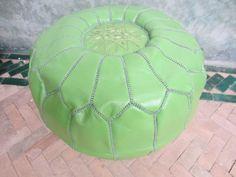 Pale green pouf