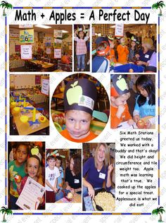 we did math with apples Scarecrows, Pilgrims, Math Stations, A Perfect Day, Bats, Phonics, Pumpkins, Apples, Literacy