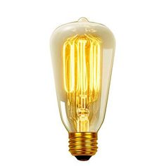 Globe Electric Company 60W 120-Volt (2700K) Incandescent Filament Light Bulb (Pack of 3)