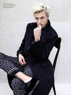 Lucky Blue Smith sits for a portrait.