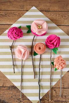 DIY: no sew felt flowers