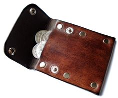 Customizable Leather Coin Pouch. $13.75, via Etsy.