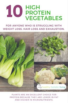 Vegetarians never have to be deficient in protein with so many delicious options available. Check out these surprising plants that are packed with protein! #protein #vegtables #vegetarian #hair loss #fatigue