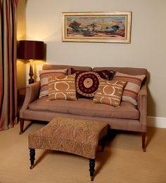 12 Bar Stripe Cushions - Sand/Rose by Mulberry Home #joannabamford