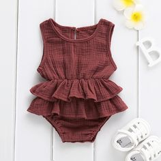 TOPBIGGER 2020 New Newborn Baby Girls Boys Kid Solid Knitted Romper Bodysuit Sleeveless One Piece Jumpsuit Hat 2PCS Outfits Clothes Sets Fashion Sunsuit 6-24Months