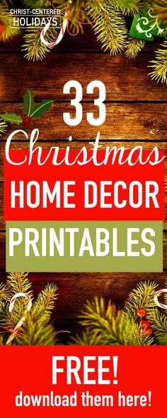Learn how to use free christmas wall art to create a beautiful seasonal picture frame gallery! There are links to over 30 free free printable christmas art here! You'll love this easy way to create cheap DIY christmas decor.