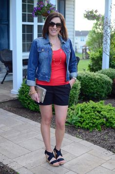 Fashion Over 40: Summer Date Night Outfit featuring Wedge Sandals from Payless