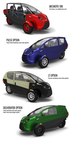 Funky electric cars built in Eugene, OR.