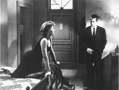 "[Debby Marsh (Gloria Grahame) surveys Bannion's undistinguished hotel room] Debby: ""Hey, I like this. Early nothing!"" -- from The Big Heat (1953) directed by Fritz Lang"