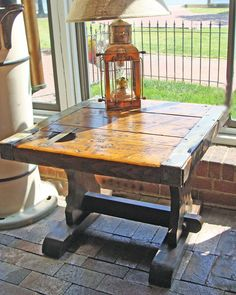 Steel based high boy kitchen dinette table liberty ship for Nautical kitchen table