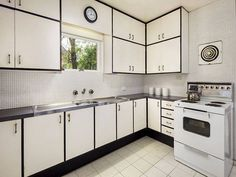 Monchrome kitchen. 18 Hepburn Road, Doncaster. Pinned by Secret Design Studio, Melbourne. www.secretdesignstudio.com