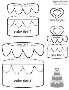 Paper piecing wedding cake Auf scrapbooking.lovetoknow.com