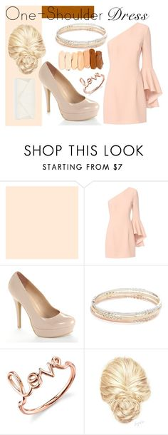 """Glamour not glam"" by masquerademan on Polyvore featuring Exclusive for Intermix, LC Lauren Conrad, Kate Spade, Sydney Evan, Accessorize, hairtrend, Pink, beautiful, nudepumps and Homecoming"