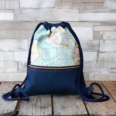 Rucksäcke - Rucksack - Weltkarte - ein Designerstück von LoLahn-Handmade bei…
