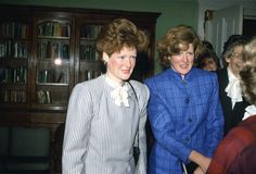 Lady Sarah McCorquondale and Lady Jane Fellows, the sisters of Princess Diana.