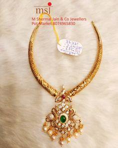 India Jewelry, Pearl Jewelry, Pendant Jewelry, Beaded Jewelry, Gold Wedding Jewelry, Gold Jewelry Simple, Bridal Jewellery, Gold Designs, Jewelry Model