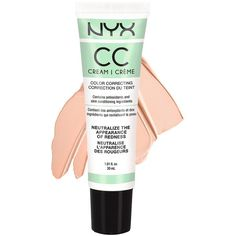 Nyx Cc Cream 30Ml ($15) ❤ liked on Polyvore featuring beauty products, makeup, face makeup, tinted moisturizer and nyx