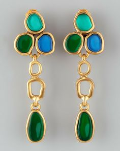 Resin Cabochon Earrings - Lyst