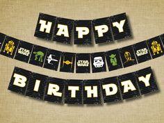 Star Wars Birthday Party Printable Banner
