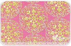 Tangier Ikat - Circles Pink Yardage - Dena Designs - Free Spirit Fabrics