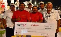 "Los Cabos Tuna Jackpot 2015: Team ""In It Tuna Win It"" aboard Pisces Fleet sportfisher Ruthless with Mike King, Lincoln Neb.; Mike Magill, Broken Arrow, Okla.; Jimmy Klein, Lincoln, Neb.; and Mike Moser, Lincoln Neb. with the largest wahoo weighing 36.9-pounds on the first day earning them $50,800."