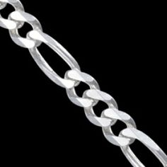 Sterling silver bracelet. Classic chain design with links, polished. Favourite male design.