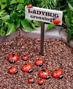 Ladybug Garden Decor - Garden Care, Garden Design and Gardening Supplies