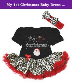 Petitebella Xmas Tree Santa Claus Bodysuit Romper Green Baby Skirt Nb-12m