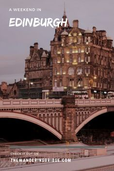 What to do over a weekend in Edinburgh including things to eat, places to visit and tours to do. #Travel #Scotland #Edinburgh