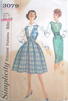 Dress Jumper Blouse 1950s