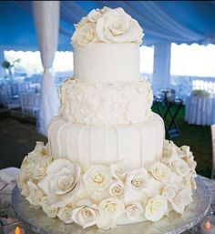 Love the flowers & details of this cake I would just give it a touch of gold
