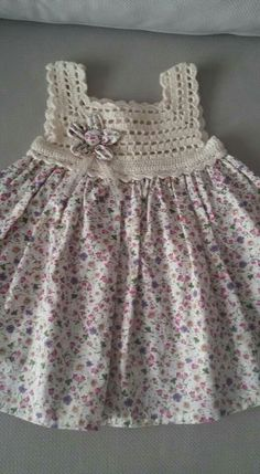 Frock Patterns Baby Patterns Crochet Patterns Crochet Dress Girl Knit Dress Crochet For Kids Crochet Baby Heirloom Sewing Baby Dress Crochet Dress Girl, Crochet Girls, Crochet Baby Clothes, Crochet For Kids, Crochet Baby Dresses, Crochet Yoke, Crochet Fabric, Cotton Crochet, Free Crochet