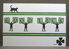 Good Luck Card using Claritystamp Wee Folk and Letterbox stamps.