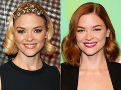 Jaime King what color is best? Blonde Vs Brunette, Red To Blonde, Blonde Color, Strawberry Blonde Hair Color, Red Hair Color, Celebrity Hairstyles, Cool Hairstyles, Blonde Roots, Celebrity Hair Colors