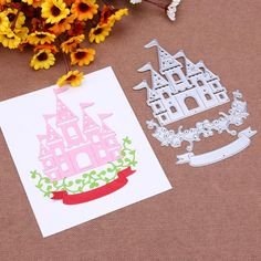 Cheap stencil for diy, Buy Quality stencils for diy scrapbooking directly from China stencils for scrapbooking Suppliers: 3pcs Castle Vines Banner Metal Cutting Dies Stencil for DIY Scrapbooking Album Paper Cards Decorative Crafts Embossing Die Cuts