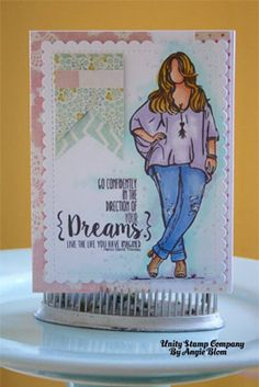 Tess GIrl by Angie Blom for Unity Stamp Co