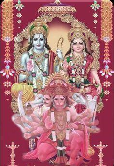 Vivaha Panchami that falls on Panchami Tithi is sacred for man-kind and his well-being. During this auspicious period Goddess Sita weds Lord Rama in Karthiga month fifth day of Shukla Paksha. Ram Hanuman, Hanuman Pics, Hanuman Images, Shiva Art, Krishna Art, Hindu Art, Fixing Marriage, Lord Rama Images, Lord Hanuman Wallpapers