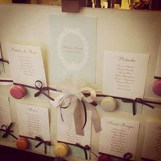 tableau mariage macarons