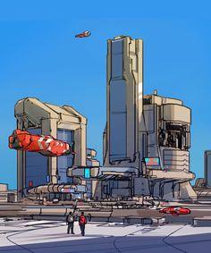ArtStation - line city, sparth .