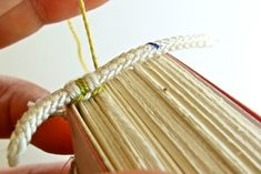 Great tutoral for hand sewn headbands #bookbinding